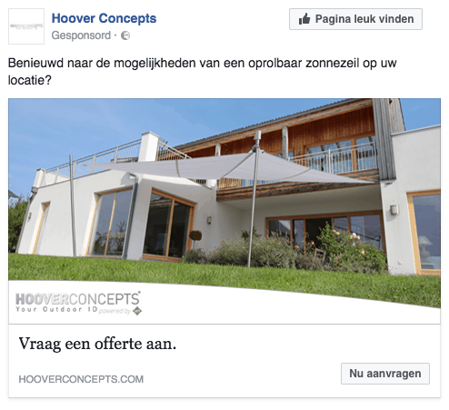 retargeting campagne Hoover Concepts