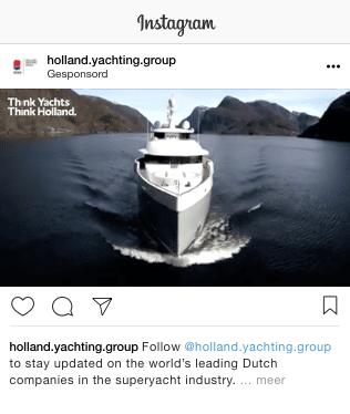 Instagram campagne superjachtbouw