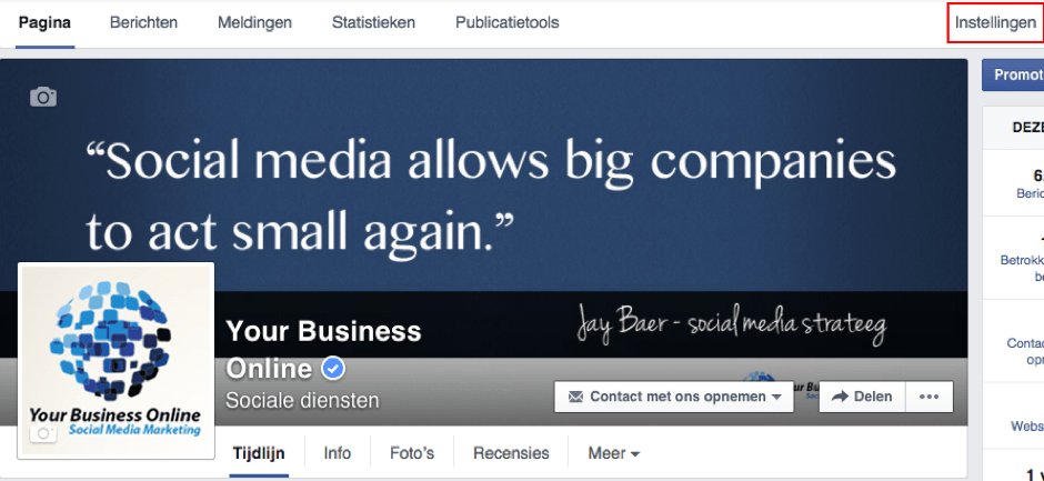 Facebook bedrijfspagina downloaden