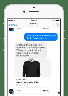 mobiele klantervaring Facebook messenger